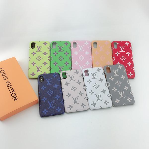 Оптовые роскошные дизайнерские чехлы для телефона для iphone 6/7/8 плюс искусственная
