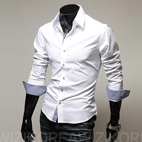 MarchWind мужская повседневная рубашка мода новый дизайнер Slim Fit с длинным рукавом классические рубашки мужчины размер 3xl Мужские рубашки Chemid Se Homme фото