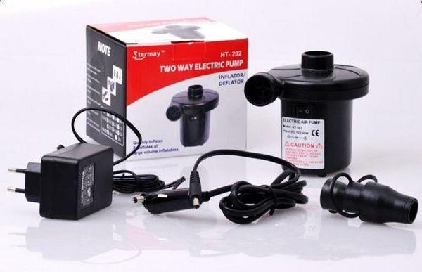 12V Car Electric Air Bed Pump Inflator Deflator for Outdoor Camping Air Mattress Swimming Ring Pool Toys Yoga Ball Ballon