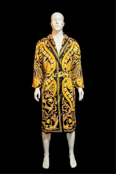 Дизайнерский бренд сна халат унисекс сатин ночной халат высокое качество халат м фото
