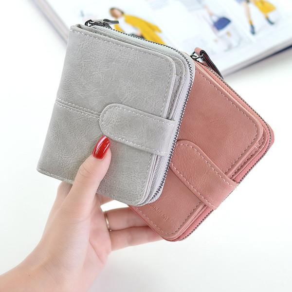 women's wallet women's short multi-function folding wallet simple buckle zip woman coin purse women purse (524274003) photo