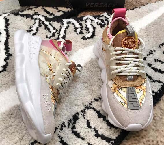 2019 цепная реакция Роскошные дизайнерские туфли Мужчины Женщины Медуза кроссовки фото