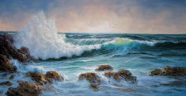 Seawave 508 Home Decor ручная роспись HD печать картина маслом на холсте стены искусства холст картины 191124 фото