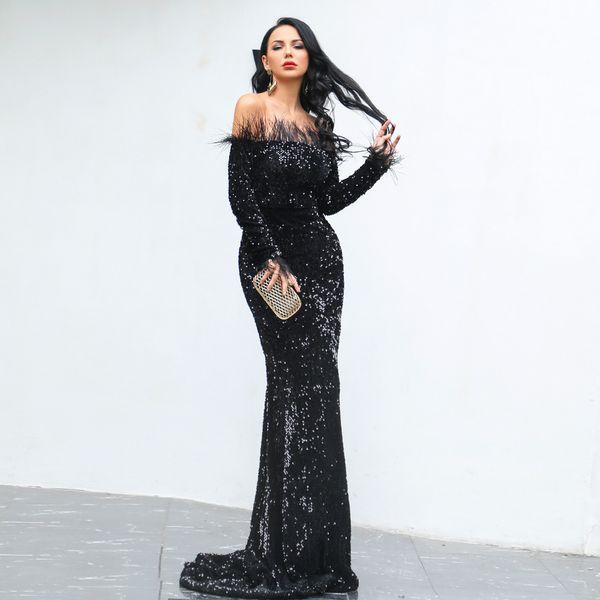 2019 великолепное платье без рукавов с длинными рукавами Русалка с оборками Русалк