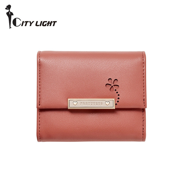 new fresh women wallet small female purse girl three fold mini ladies short wallets coin purse (530124097) photo
