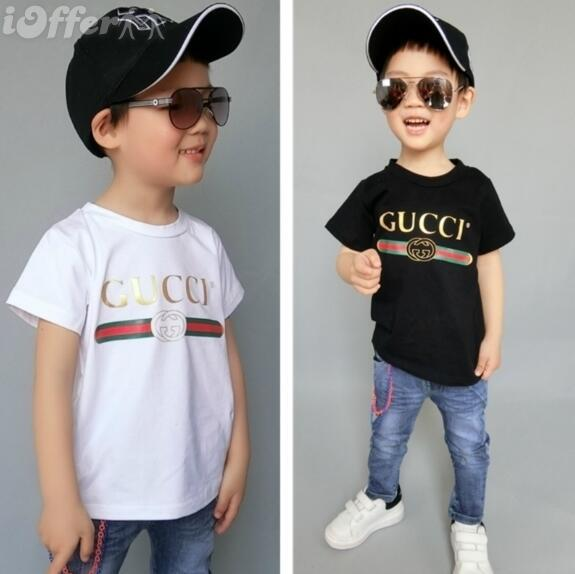 2019 new Luxury summe Hot brand 1-9 years old Baby boys girls T-shirts r shirt Tops cotton children Tees kids Clothing 2 colors oferde