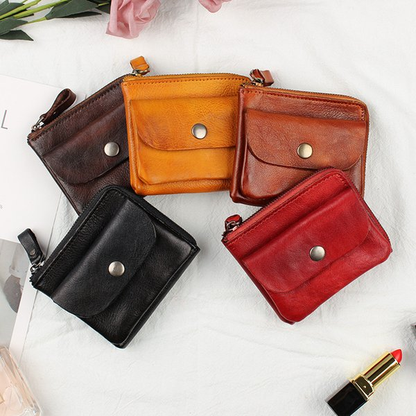 2020 new genuine leather ladies wallet first layer leather coin purse card holder purse (524569743) photo
