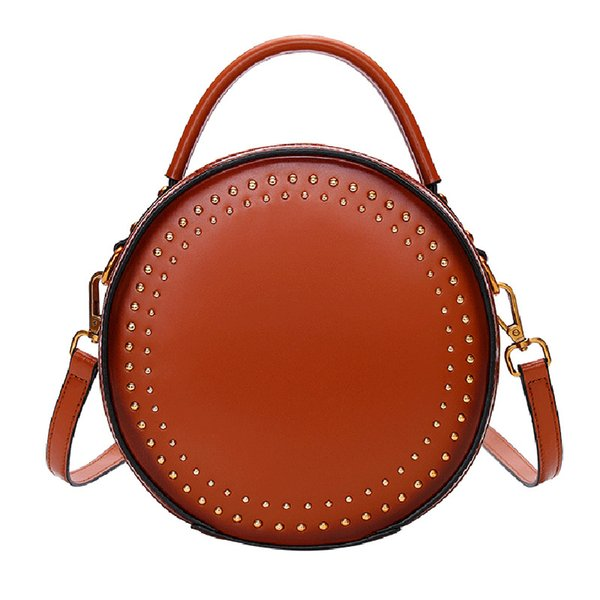 vintage design fashion women vintage leather circle bag purses handbags (529835641) photo