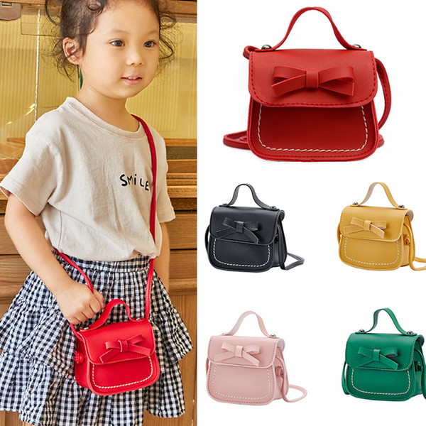 2019 girl coin purse handbag children wallet small coin box bag cute mouse bow kid money bag baby shoulder purse (475476783) photo