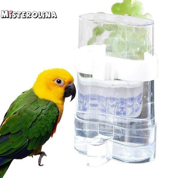 1pcs automatic bird sewer cage supplies bird cages accessories birds water dispenser utensils feeder water drinker pt1154 (501821463) photo
