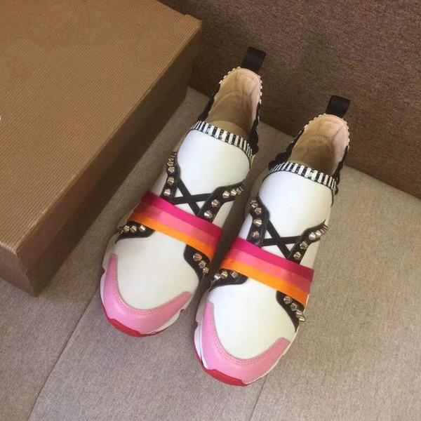 2019 роскошные дизайнерские туфли повседневные женские кроссовки из натуральной к