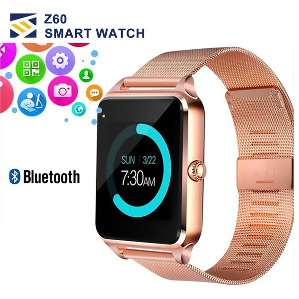 Bluetooth  mart watch phone z60  tainle    teel  upport  im tf card camera fitne   tracker gt08 gt09 dz09 a1 v8  martwatch for io  android