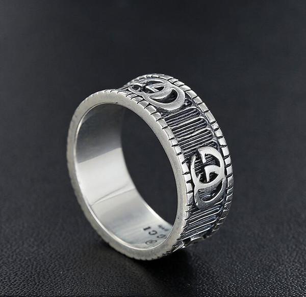 Новый Дизайнер Мужчины Кольца Настоящее Стерлингового Серебра 925 Пробы Кольцо Ли фото