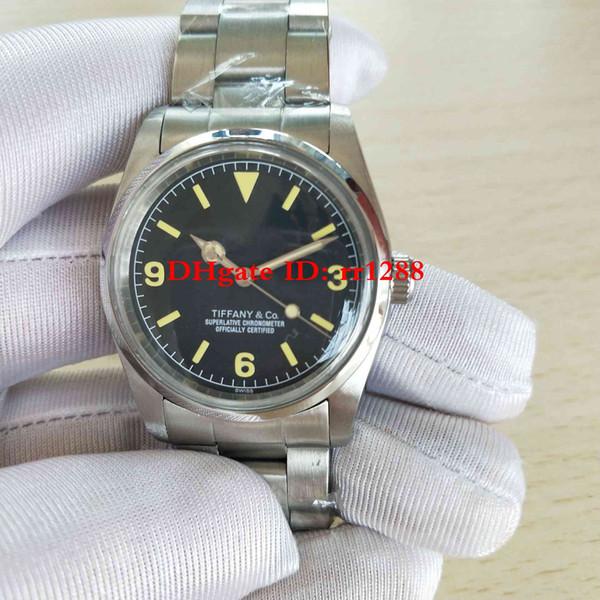 2 стиль наручные часы GMT Explorer II 36 мм 2813 механизм механический автоматический черны фото