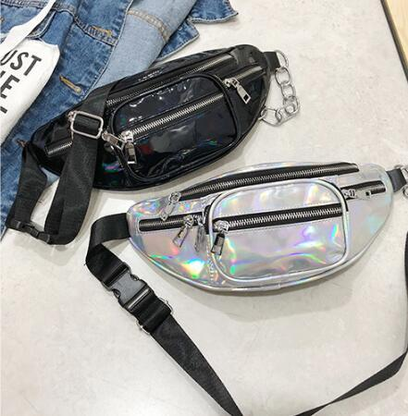wholesale handbags purses wholesale women waist bag new fashion crossbody bag laser shoulder bags (546345717) photo