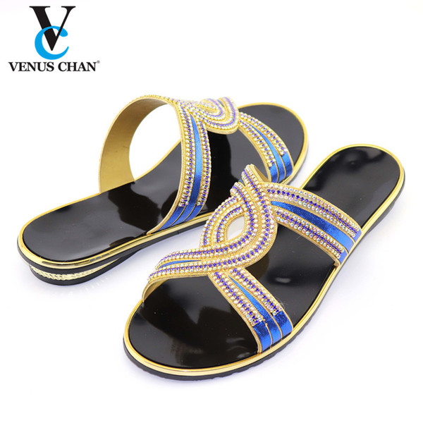 blue nigerian style woman shoes without purse set italian elegant low heels shoes for wedding party dress (537093695) photo