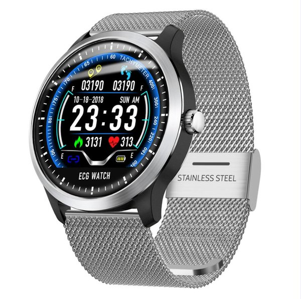 N58 color  creen ecg ppg  mart watch with electrocardiograph ecg di play holter ecg bracelet heart rate monitor blood pre  ure  martwatch
