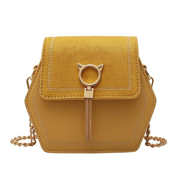 unique fringe cat lock vintage frosted pu leather bags bag women's handbags purses women shoulder crossbody bags (549818311) photo