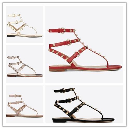 Дизайнер заостренный носок шпильки высокие каблуки лакированная кожа заклепки сандалии женщины шипованные босоножки туфли валентинки плоские туфли на каблуках