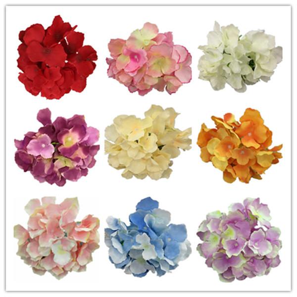 Шелк цветок гортензии 18 см искусственные цветы Майорка цветок гортензии головки фото