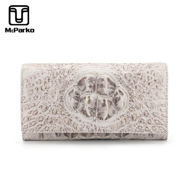 mcparko genuine crocodile leather wallet women long purse white women wallets wallets designer purse money bag (509921580) photo