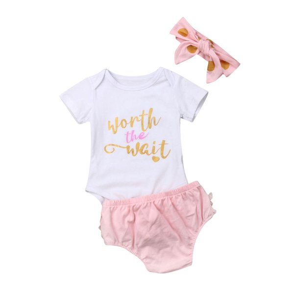 newborn baby girls clothing set infant costumes short sleeve romper lace shorts bloomer outfits baby girl clothes