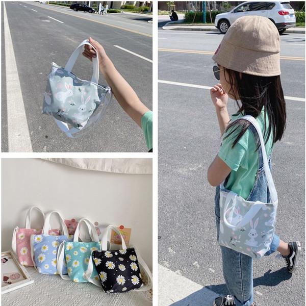 fashion daisy flower kid's messenger bag children coin purse mini handbags money pouch canvas portable girl small shoulder bags (549155244) photo