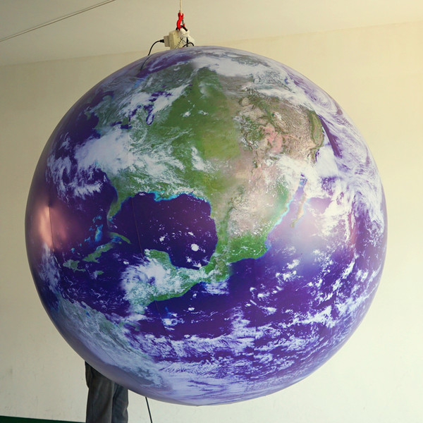 2m diamter giant inflatable moon balloon inflatable planet  for the nightclub  tage event decoration