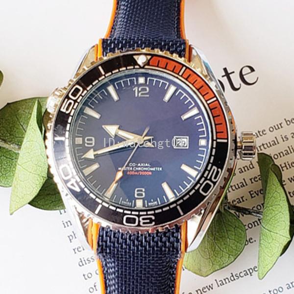 Оптовые мужские часы Bond 007 600M хронографа 215,32 Orologio d часы Кварц движение desingers 45 мм Циферблат Relojes каучукового ремешка наручных часов фото