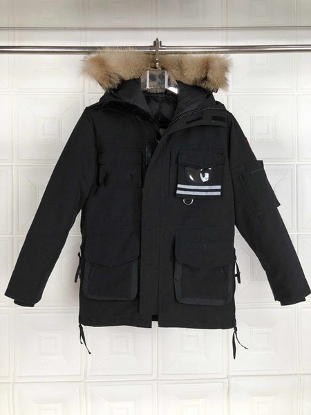 2020 10# goose with real wolf fur down coatman new arrival sale men guse chateau black down jacket winter coat parka фото