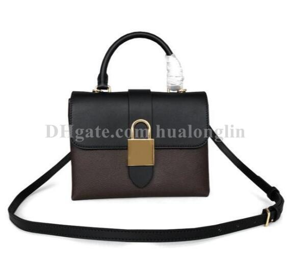 lock bag woman handbag purse shoulder fashion tote lady ing (531599823) photo