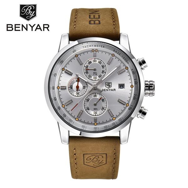 BENYAR Sport Watch Men Waterproof Date Display Relogio Masculino Male Clock Man's Outdoor Stops Wristwatches Gift