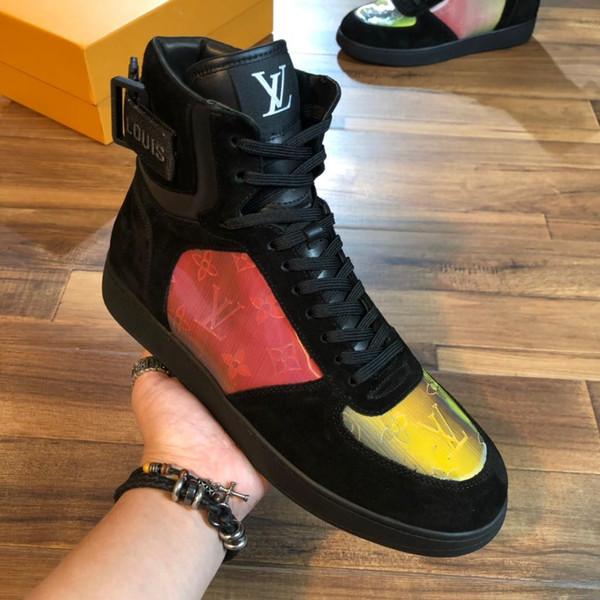 Роскошные мужские повседневные туфли Chaussures Skateboarding Black Men High Low Дизайнерские кросс фото