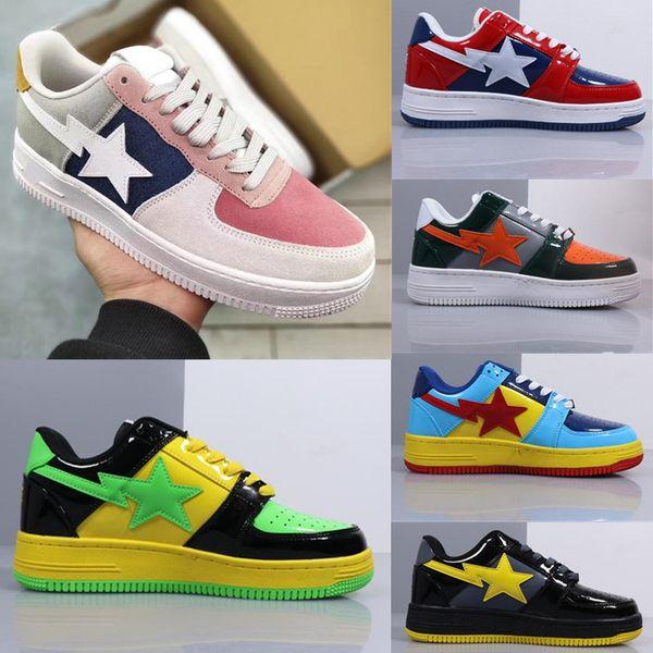 2019 Мода Классическая Реставрация Скейт Обувь Дизайнерская Обувь Footsoldier BAPESTA Кожа