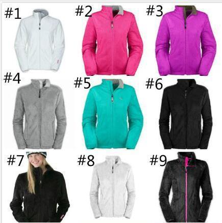 Face Fashion Brand Women Soft Fleece Osito Jackets High Quality Ladies Mens Kids SoftShell Ski Down Coats Windproof Casual Coats Black Whit