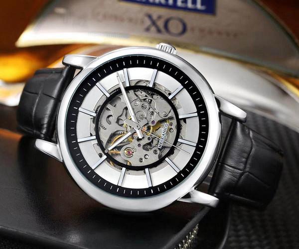 Оптовая продажа модных мужских роскошных часов AR Model Skeleton Dial Корпус из нержавеюще фото
