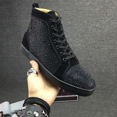 Fashion Designer Brand Studded Spikes Flats shoes Red Bottom Shoes For Men and Women Party Lovers Genuine Leather Sneakers 35-46 020