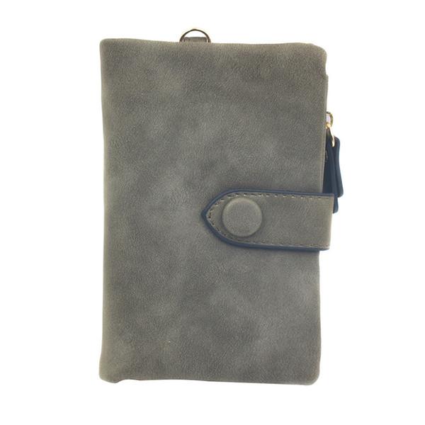 tri-fold wallet purse short design court mode pu porte-cartes en cuir ka-best (466237753) photo