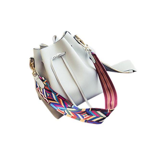 new fashion women handbag shoulder bag drawstring bucket shoulder messenger hobo bag purse satchel bolsos mujer (502005596) photo
