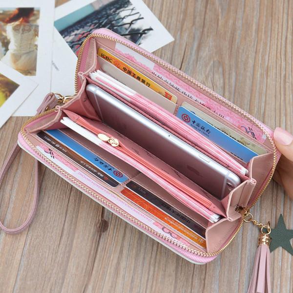 1 stücke frauen dame wallet purse lange design reißverschluss für münze geld karten handy ka-best (466238219) photo
