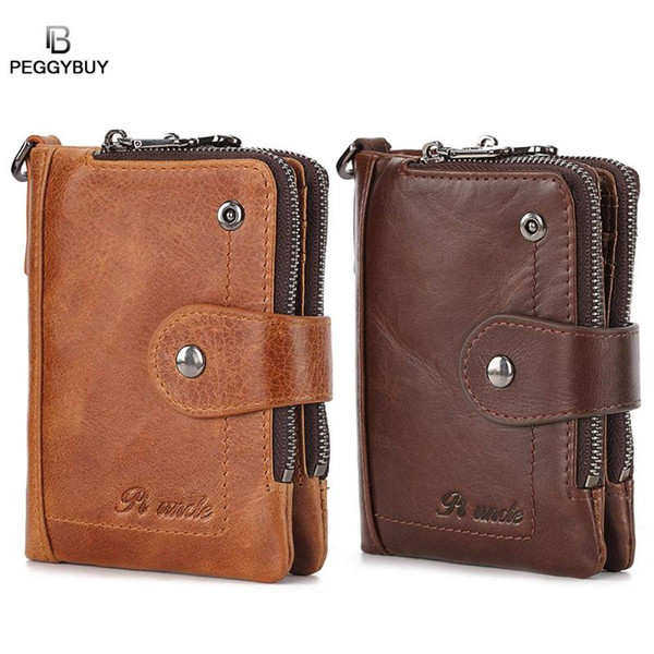 men wallet short bifold pu leather men purses fashion multifunction coin bag zipper small money purses clutch money clip (525977561) photo