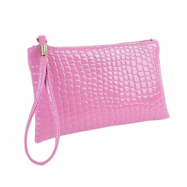 women wallet handbag womens crocodile pu leather clutch handbag bag coin purse crocodile purse clutch purse bag women bag (441128924) photo
