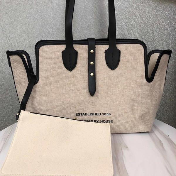 designer luxury handbag purse barbery purse bag canvas material women fashion composite totes designer bags purse bag (484490681) photo