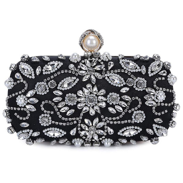 ljl-women noble crystal beaded evening bag wedding clutch purse (519408218) photo