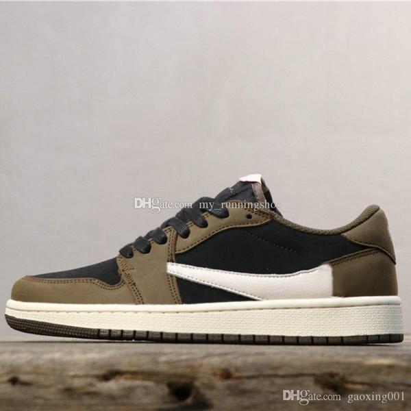 Новый Трэвис Скотт X 1 Low Limited Баскетбольная обувь 1S Designer Спорт кроссовки для мужчин Спорт Кроссовки 39-45 фото