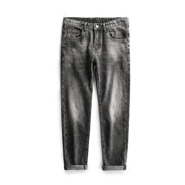 Мужские дизайнерские черные и серые джинсы байкер стрит хип хоп драпированные рваные брюки карандаш панталоны уменьшенной формы характерная особенность фото