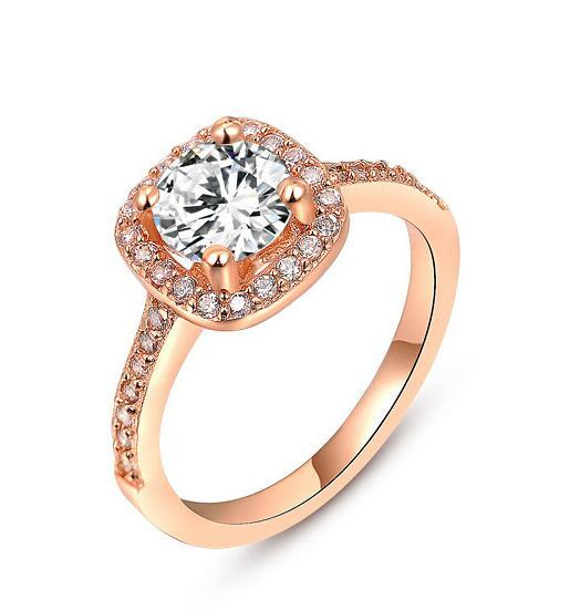 2020Gold посеребренные обручальные кольца цирконий Кристалл кольцо для женщин сделано с элементами Swarovski обручальные кольца для пальцев высокое качество фото