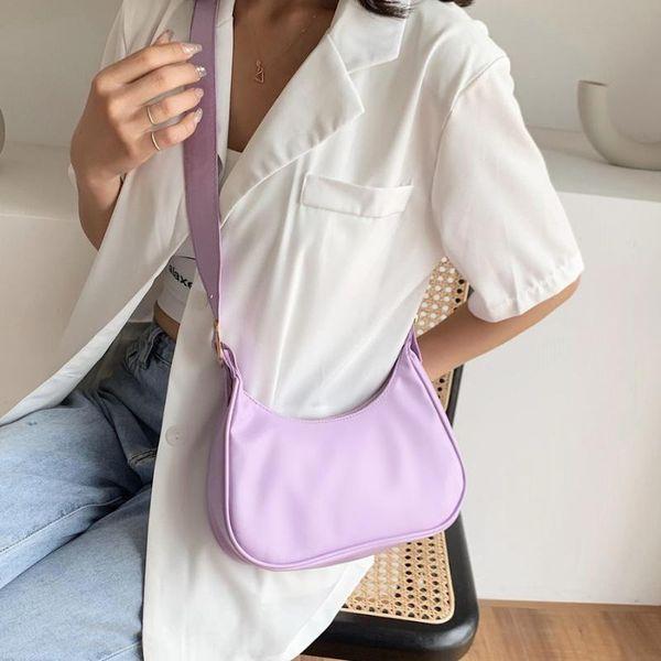 2020 fashion shoulder bag women pu leather baguette bag french armpit leisure handbag crossbody design tote purse (553403354) photo