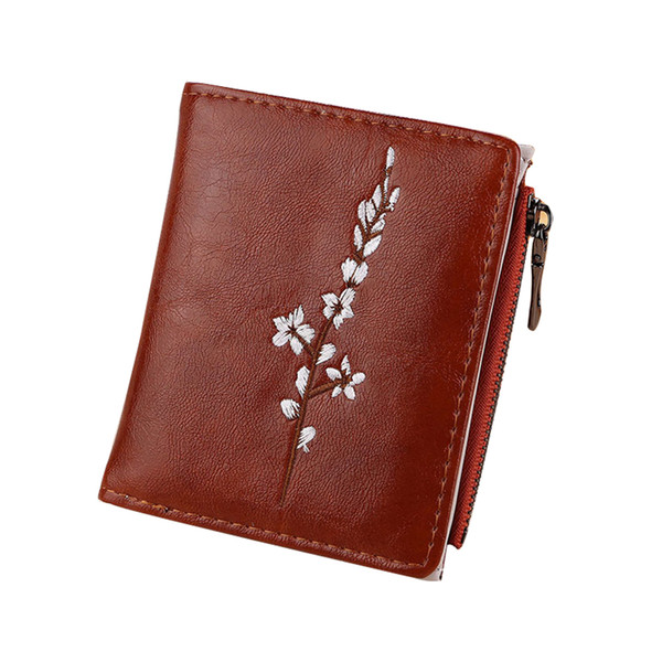 1 pcs women wallet purse short design flower pu leather for coin money cards ka-best (466237840) photo
