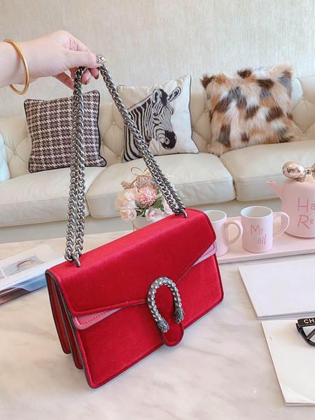 designer-luxury handbag purse chain shoulder gucy purses bag women fashion totes designer crossbody velvet material purses bag. (503585694) photo
